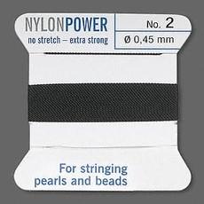Nylon Thread Thread Nylon Black #2 2Yrds
