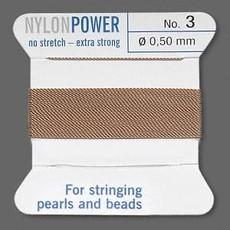 Nylon Thread Thread Nylon Beige #3 2Yrds