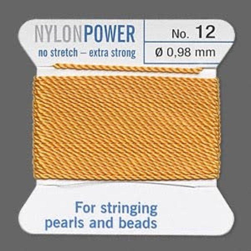 Nylon Thread Thread Nylon Amber Yellow #12 2Yrds