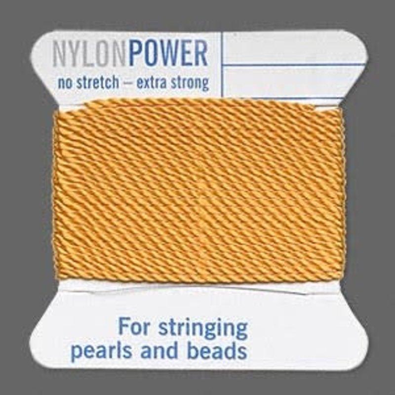Nylon Thread Thread Nylon Amber Yellow #14 2Yrds