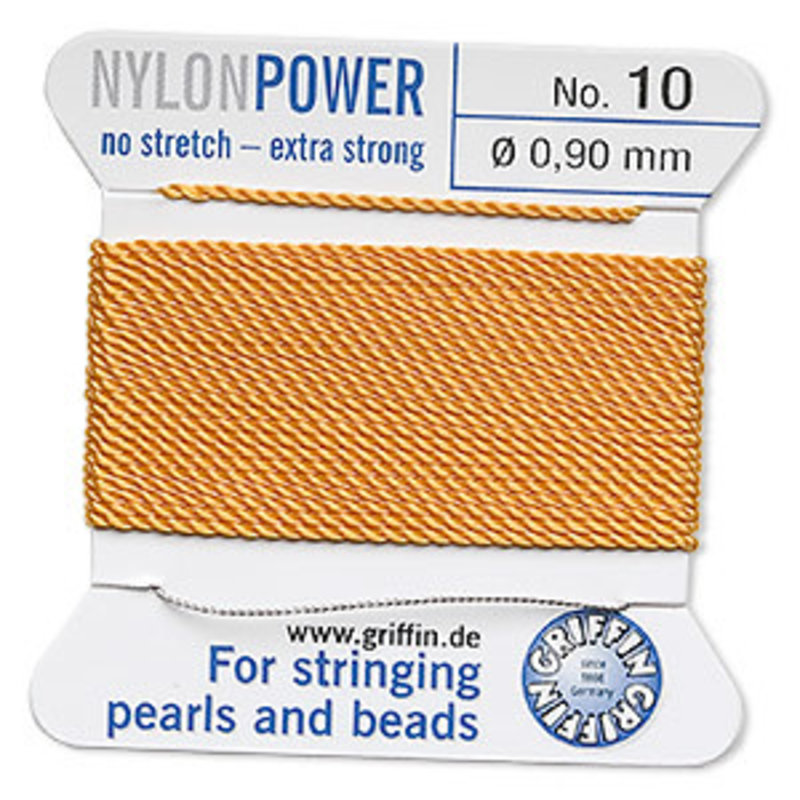 Nylon Thread Thread Nylon Amber Yellow #10 2Yrds