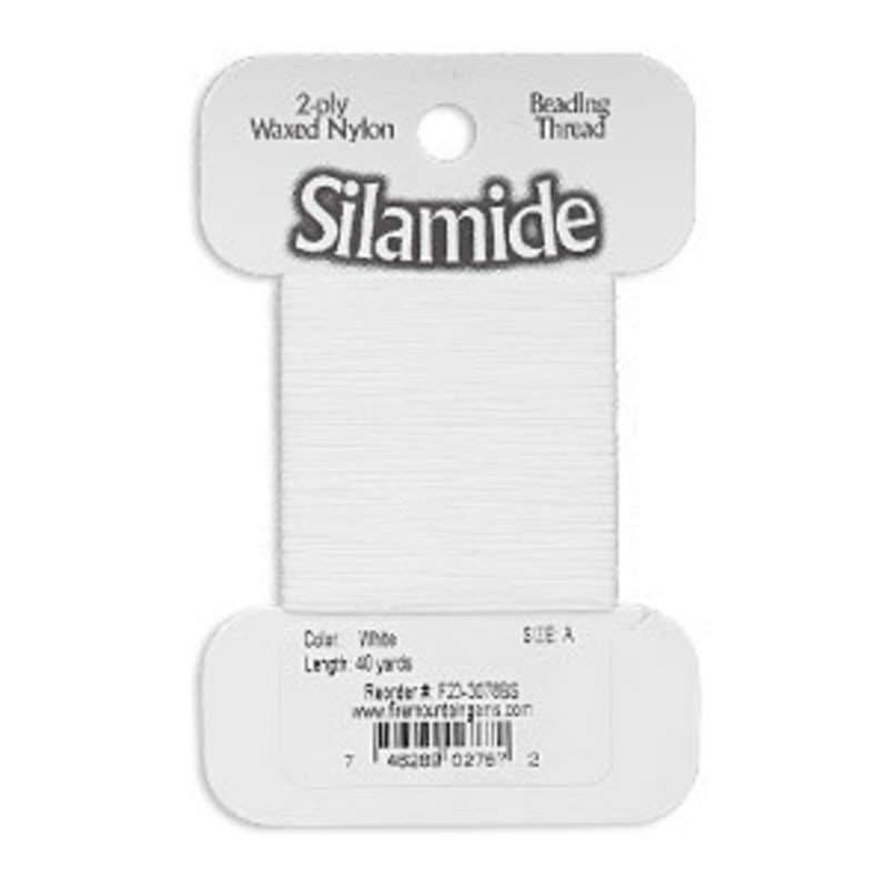 Silamide Silamide Thread White 40Yd