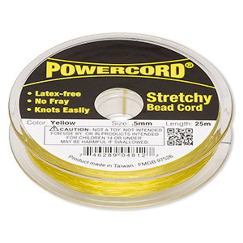Powercord Powercord Yellow 0.5Mm 25Mtrs