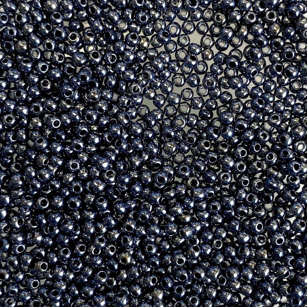 MJB #12  MJB Seed Beads   50gr  pkg  Metallic Hematite