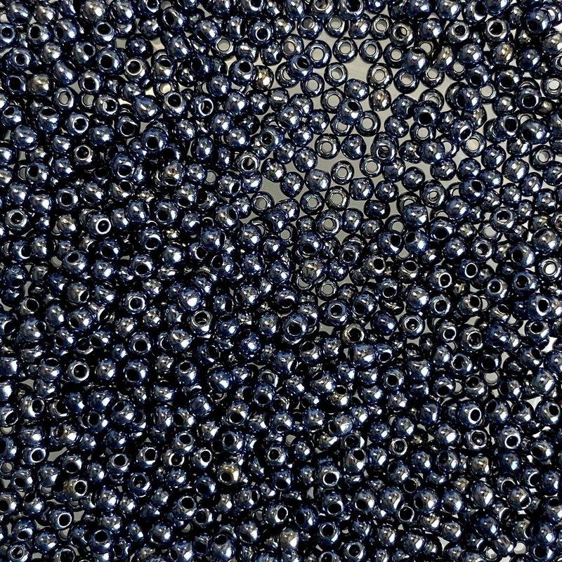 MJB #15  MJB Seed Beads   50gr  pkg  Metallic Hematite
