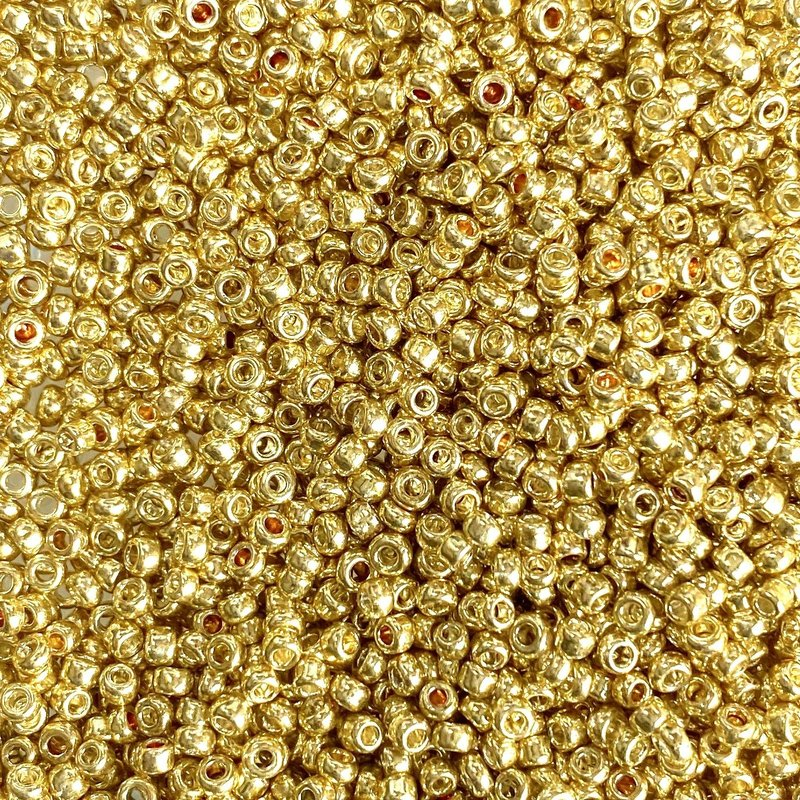 MJB #10  MJB Seed Beads   50gr  pkg  Light Gold