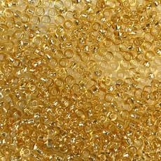 MJB #10  MJB Seed Beads   50gr  pkg  Silver Lined Light Gold
