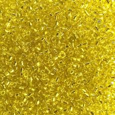MJB #10  MJB Seed Beads   50gr  pkg  Silver Lined Yellow