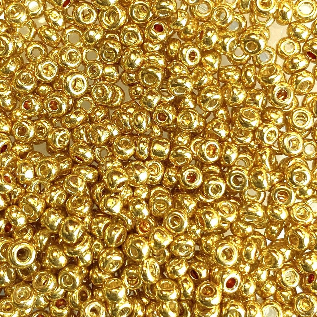 MJB #8  MJB  Seed Beads   50gr  package Gold