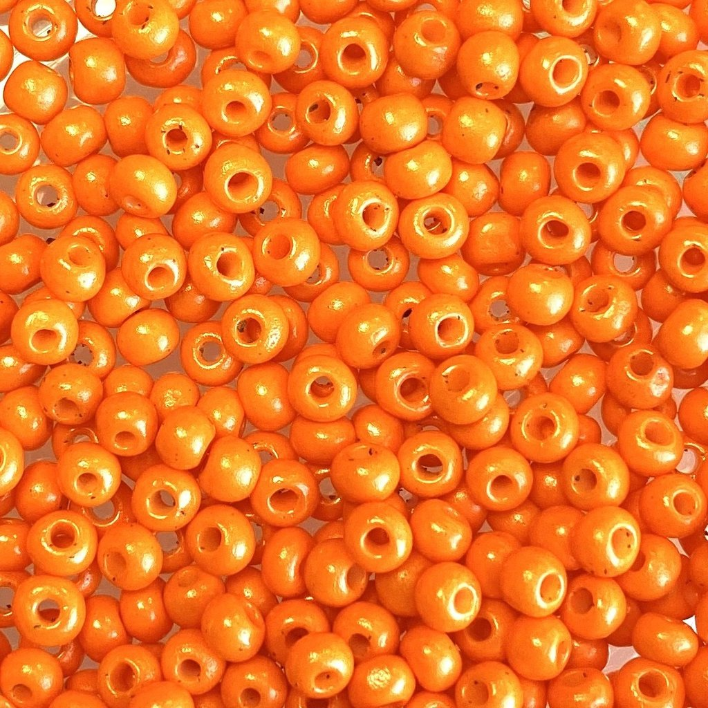 MJB #8  MJB  Seed Beads   50gr  package  Orange