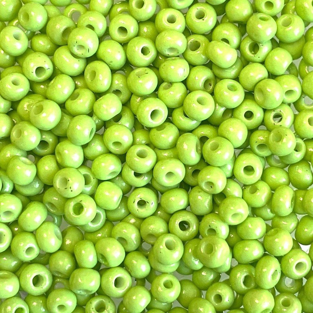 MJB #8  MJB  Seed Beads   50gr  package  Lime Green