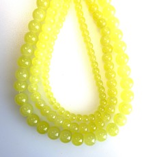 Bead World Glass Bead Strand Yellow