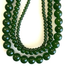 Glass Bead Strand Pickle Green
