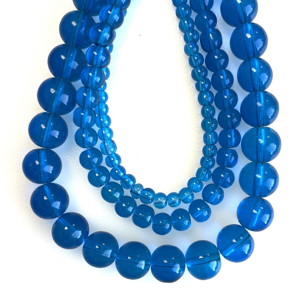 Bead World Glass Bead Strand Capri Blue