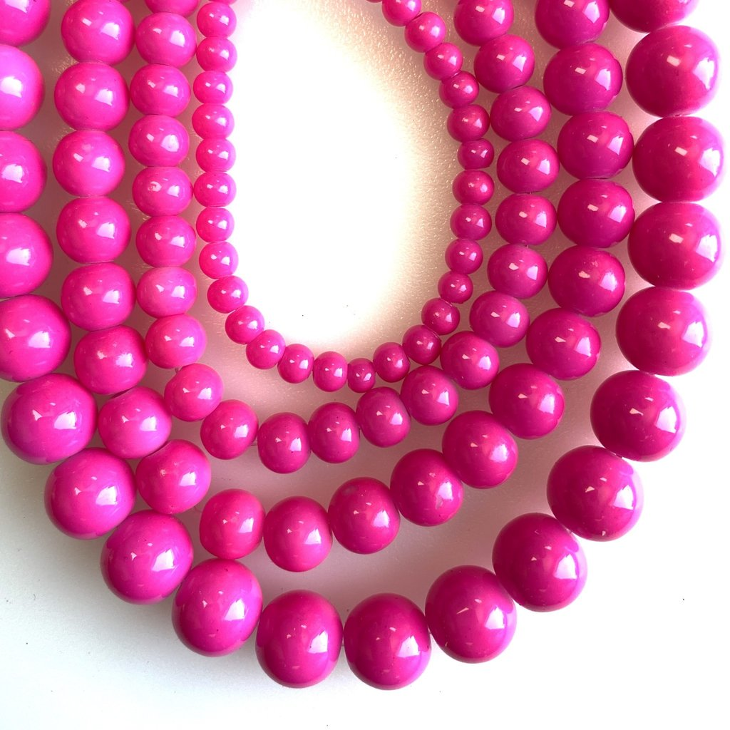 Glass Bead Strand French Rose Pink