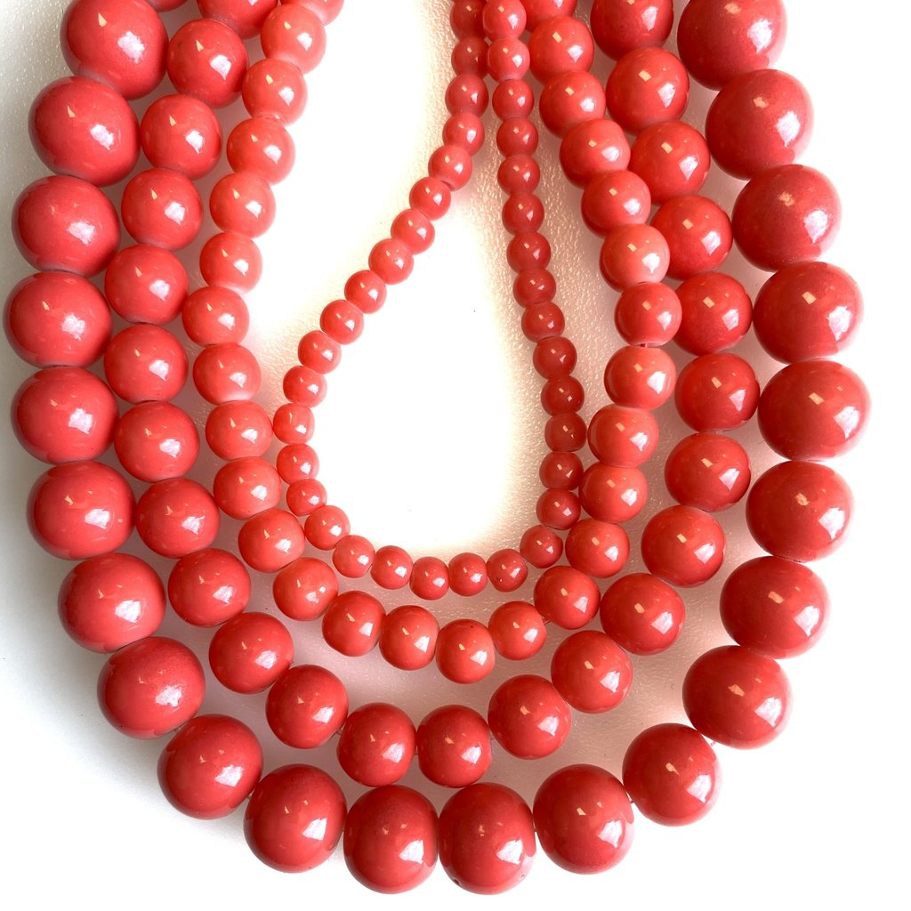 Glass Bead Strand Coral Pink