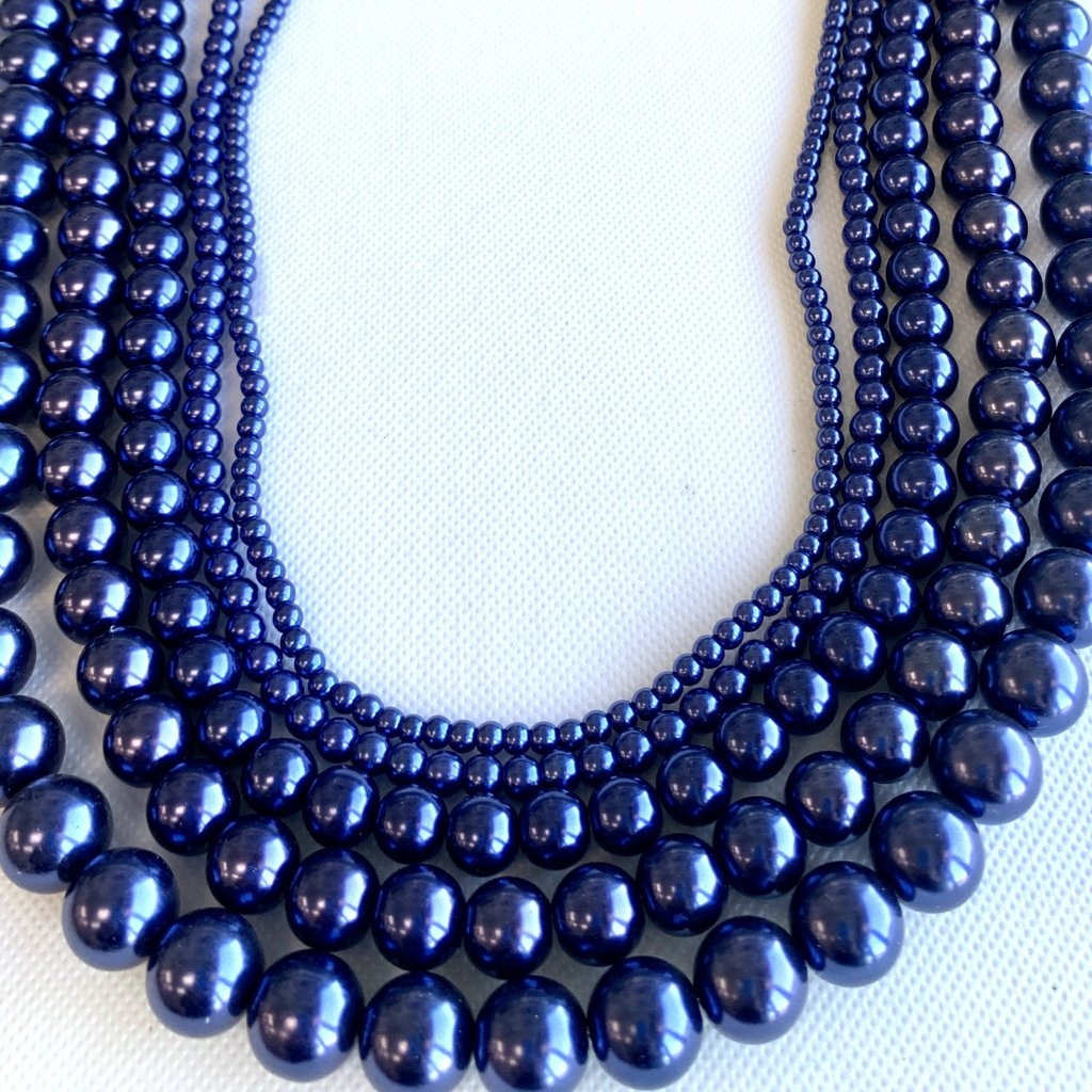 Bead World Glass Pearl Dark Purple