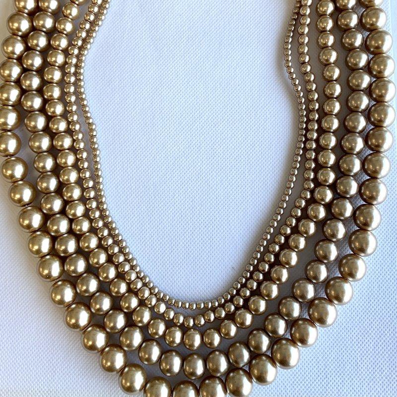 Bead World Glass Pearl Light Brown