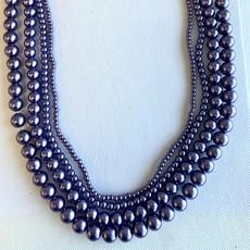 Glass Pearl Dark Lavender