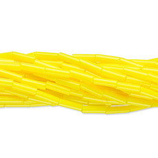 Preciosa Czech Bugle Bead Opaque Lemon Yellow/ Hank
