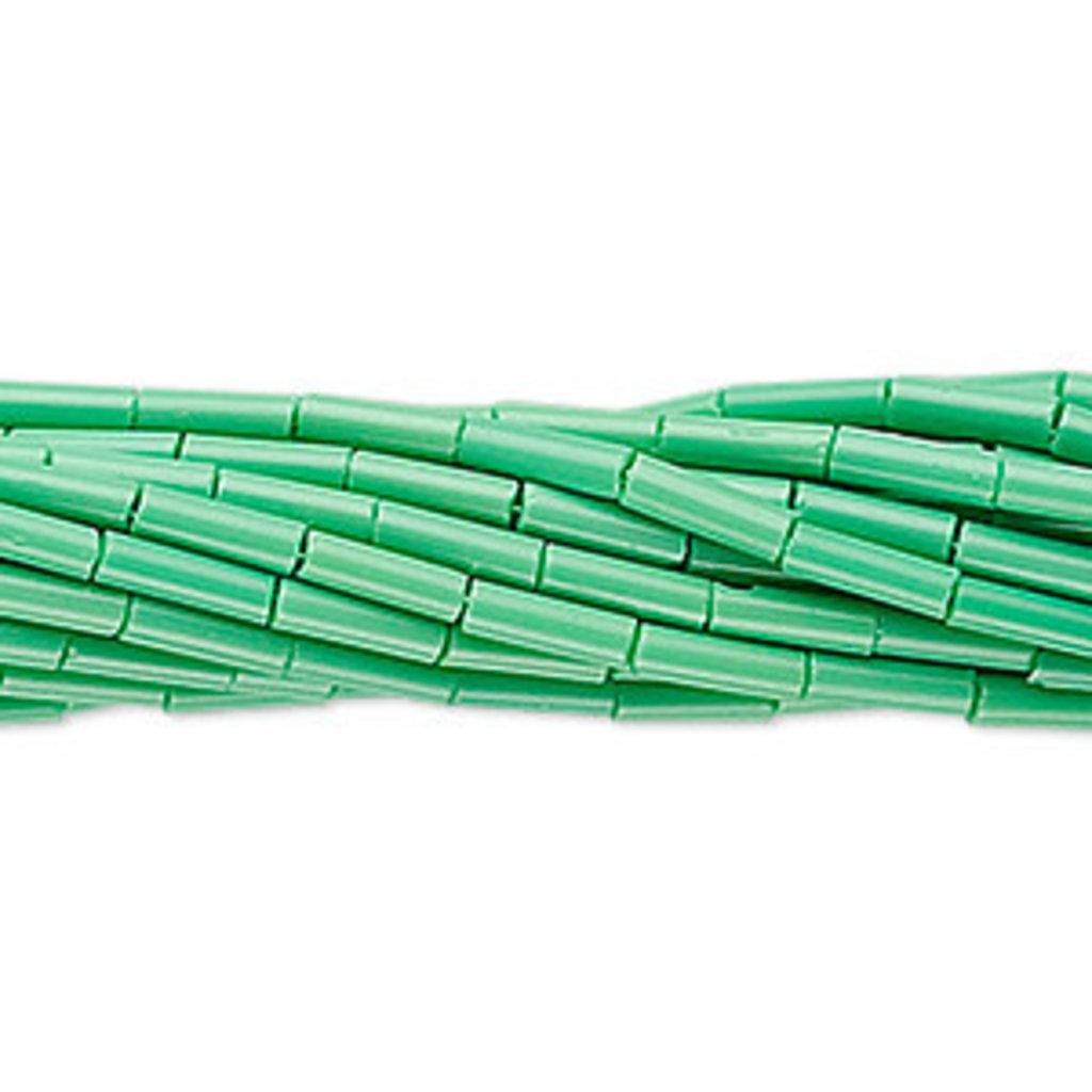 Preciosa Czech Bugle Bead #3 Opaque Mint Green/ Hank