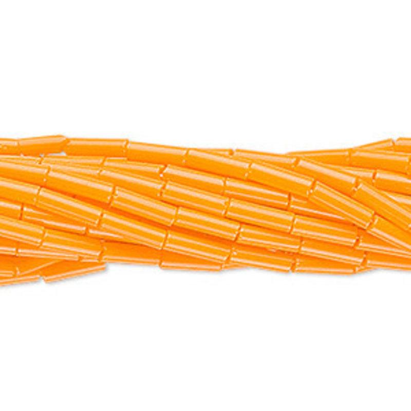 Preciosa Czech Bugle Bead #3 Opaque Orange/ Hank