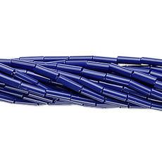 Preciosa Czech Bugle Bead #3 Opaque Cobalt Blue/ Hank