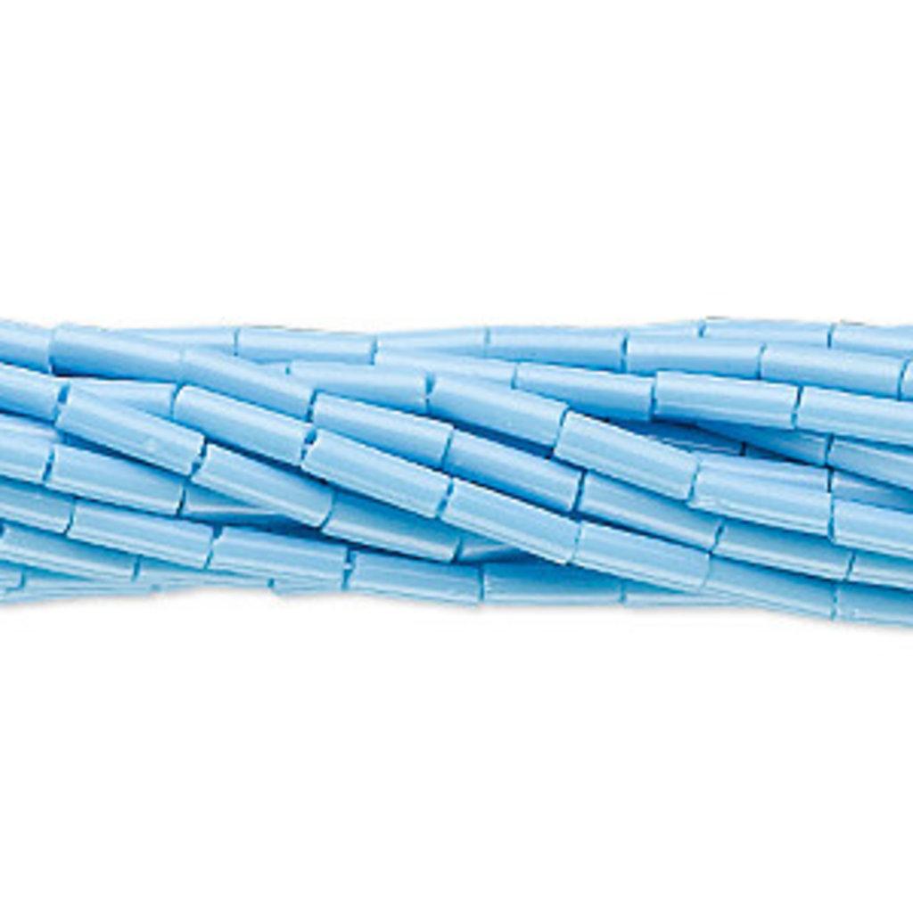 Preciosa Czech Bugle Bead #3 Opaque Sky Blue/ Hank