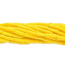 Preciosa Czech Bugle Bead #3 Opaque Yellow/ Hank