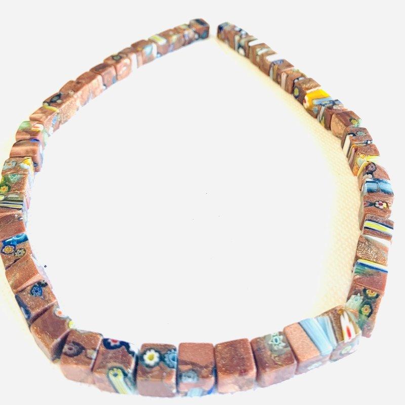 Bead World Lampwork Glass Beads  Cube  8x8mm  50pcs/strand