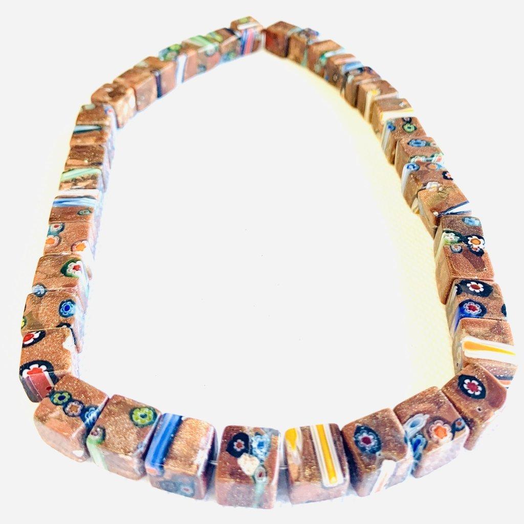 Bead World Lampwork Glass Beads  Cube  10x10mm  40pcs/strand