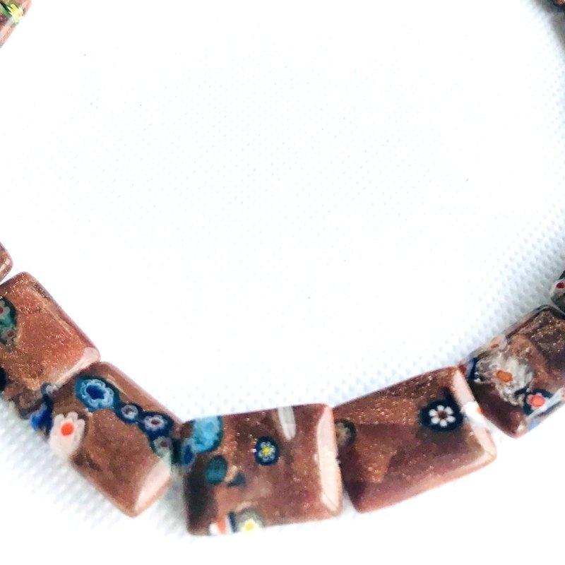 Bead World Lampwork Glass Beads  Rectangle  19x13mm  22pcs/strand