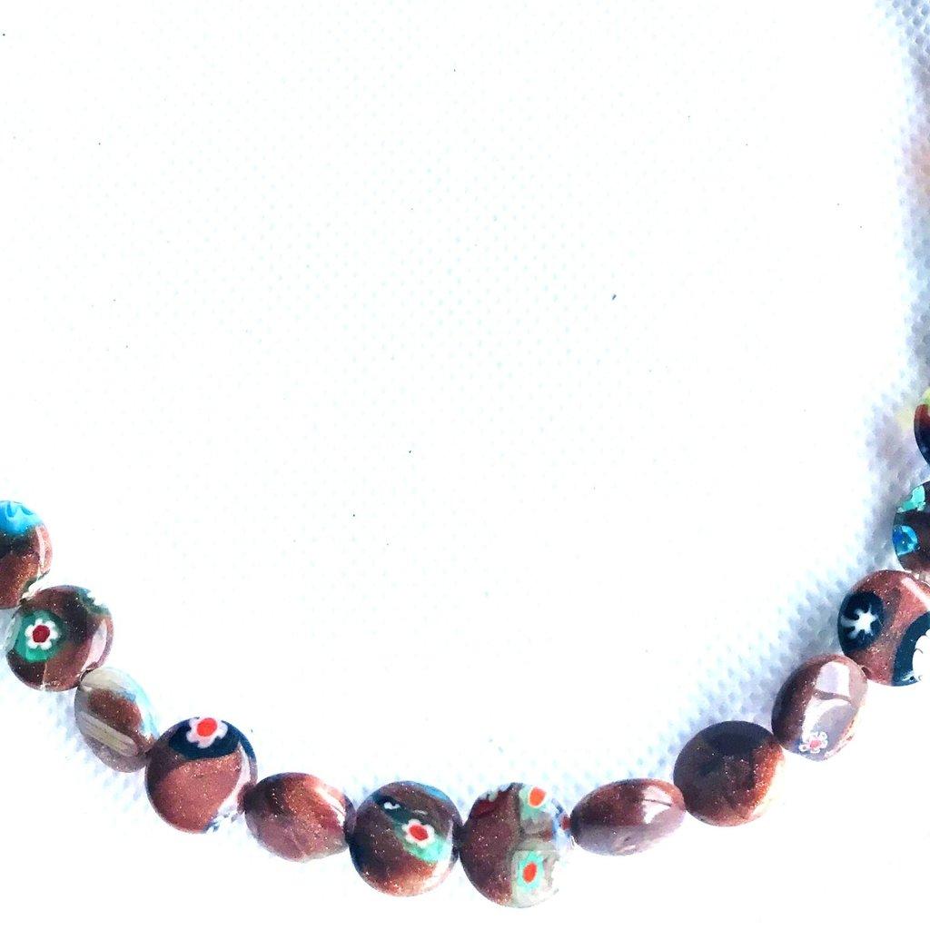 Bead World Lampwork Glass Beads  Coin  10mm  40pcs/strand