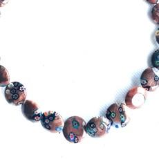Bead World Lampwork Glass Beads  Coin  15mm  25pcs/strand