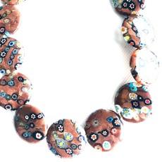 Bead World Lampwork Glass Beads  Coin  30mm  16pcs/strand