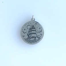 Bead World Sailing Ship  Stainless Steel  16mm