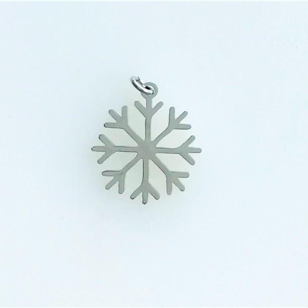 Bead World Snowflake  Stainless Steel  14mm
