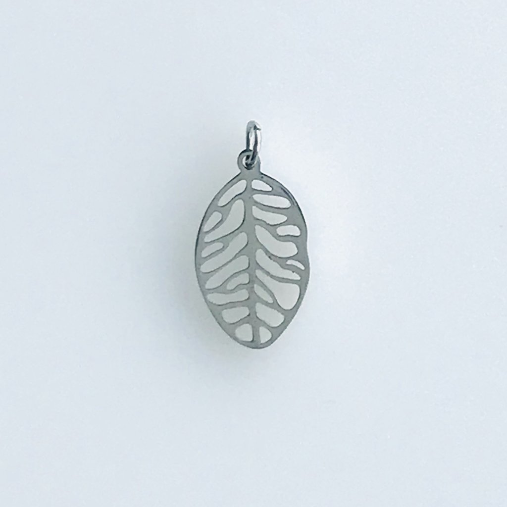 Bead World Leaf  Stainless Steel  17x10mm