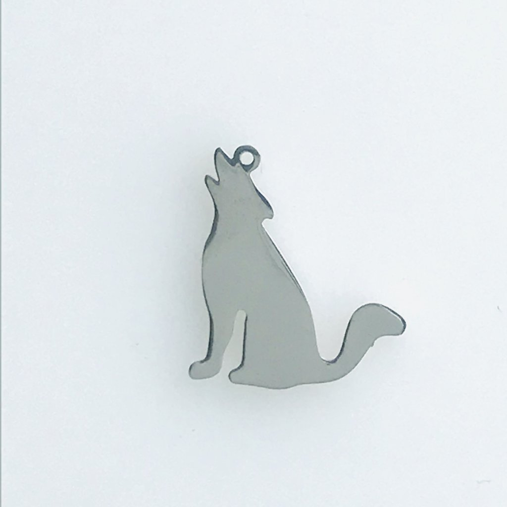 Bead World Howling Wolf  Stainless Steel  19.75x17mm
