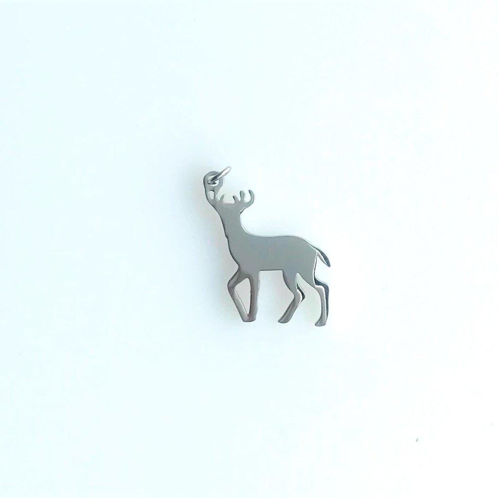 Bead World Deer  Stainless Steel  20.45x21.6mm