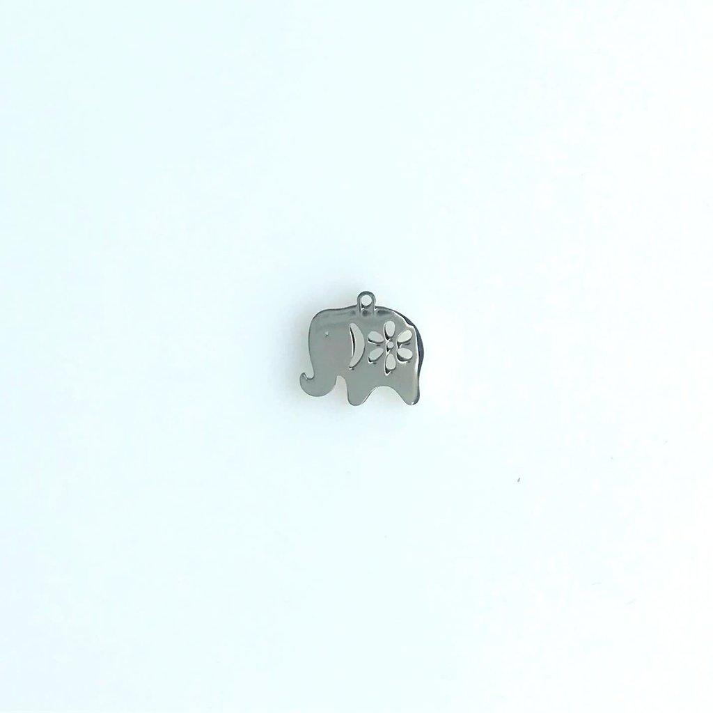 Bead World Elephant  Stainless Steel  12.9x13.7mm