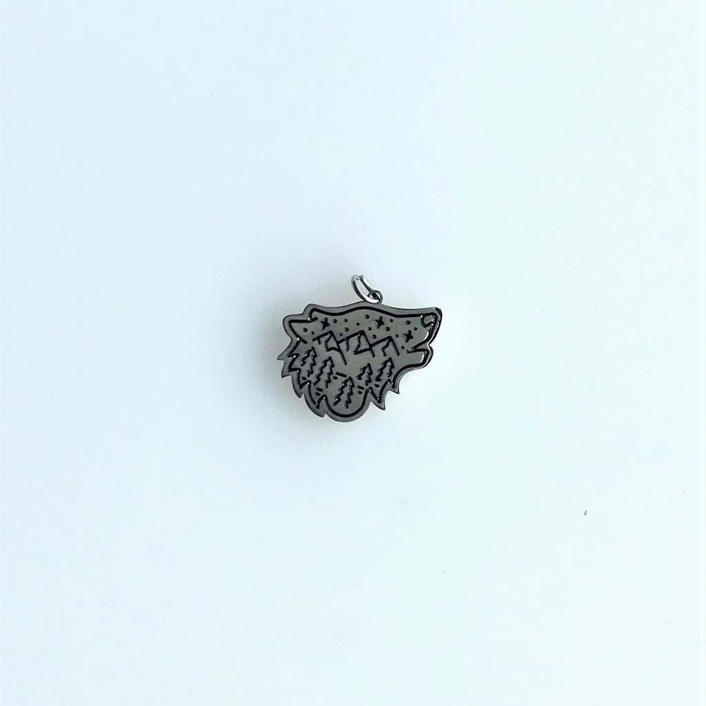 Bead World Wolf Head And Mountain  Stainless Steel  14.3x16.8mm