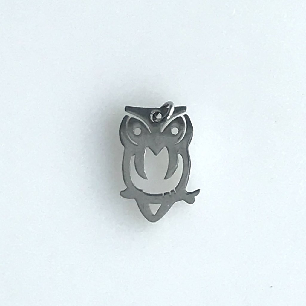 Bead World Hollow Owl  Stainless Steel  15.5x10.4mm