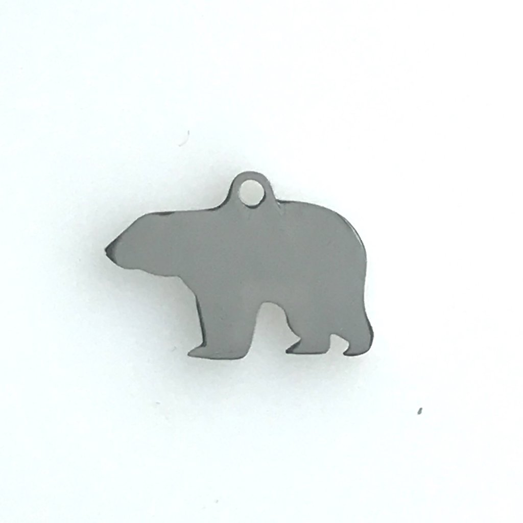 Bead World Bear With Ring  Stainless Steel  13.5x19mm