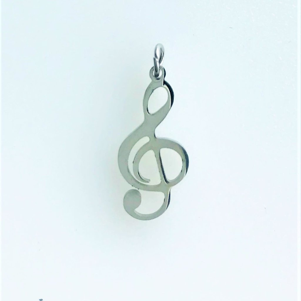 Bead World Treble Clef  Stainless Steel  18x8.5mm