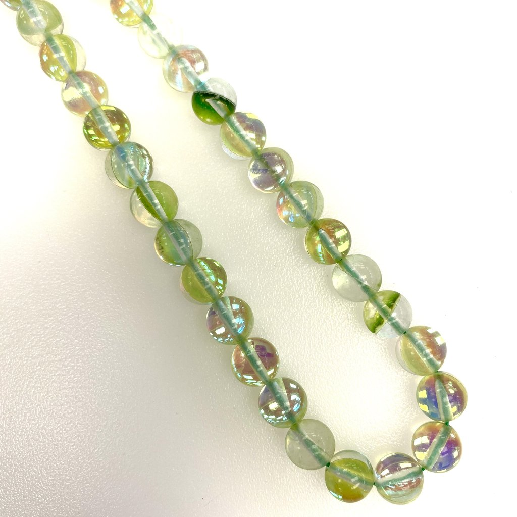 Rainbow Mermaid Glass Bead 8mm 45pcs/Strand