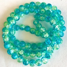 2-Toned Glass Crackle Beads - Round  10mm 80 pcs/strand   8 Colors Available!