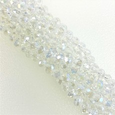 """Bead World """"crystals""""  4mm Round Crystal Faceted Beads 144 beads/strand"""