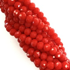 """Bead World """"Reds""""  4mm Round Faceted Crystal Beads"""