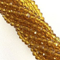 """""""Topaz Shades"""" 4mm Round Crystal faceted Beads 144 Beads/Strand"""